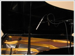 Dark sounding european acoustic grand piano and AKG C451B/ST